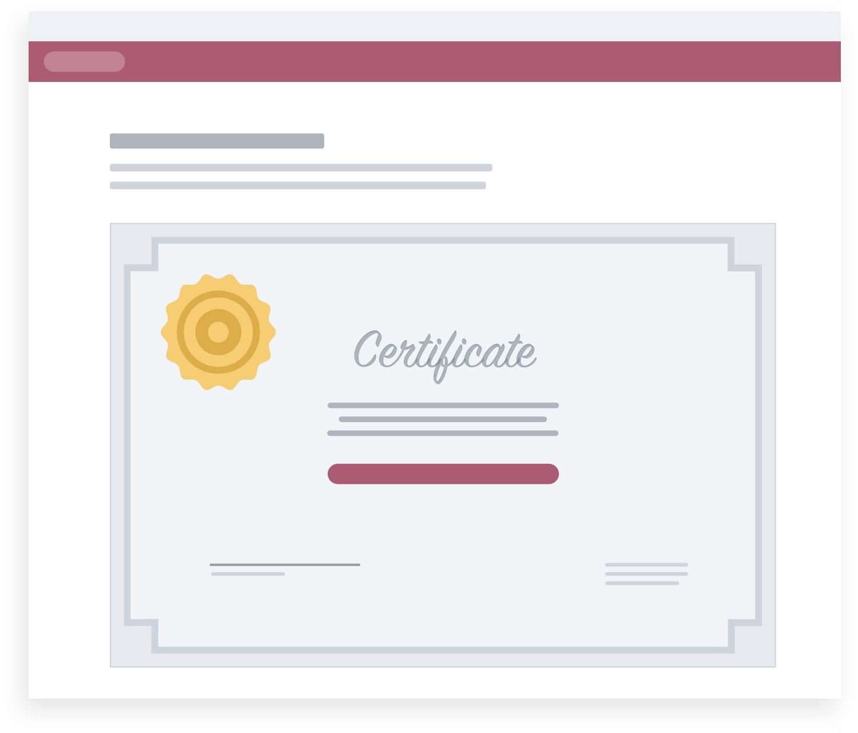 Customer Training Certificates