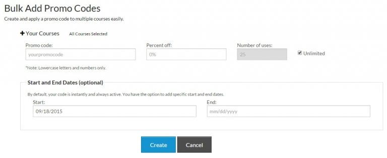 New Feature Bulk Promo Code Options Skilljar