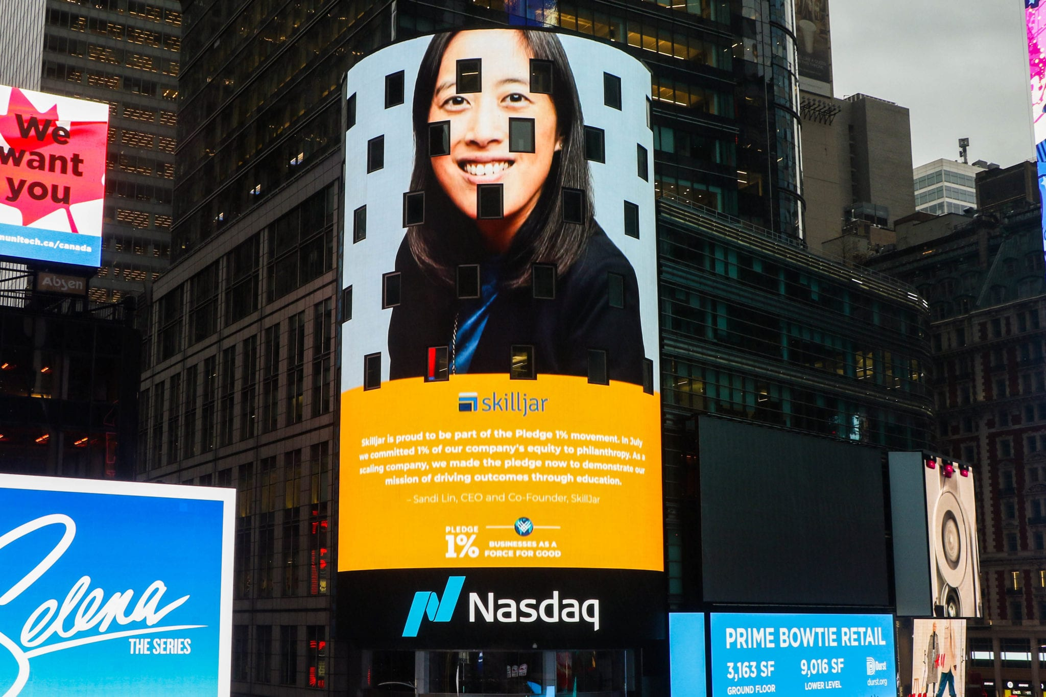 Skilljar Rings NASDAQ Opening Bell with Pledge 1% Movement Ahead of Giving Tuesday