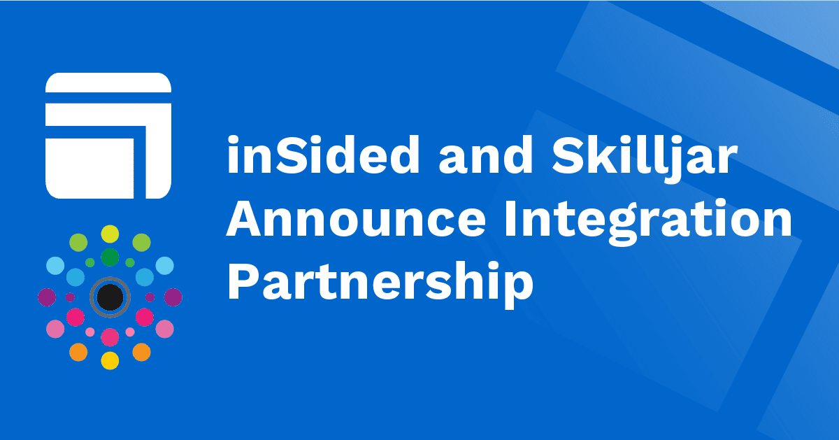 inSided and Skilljar Announce Integration Partnership to Streamline Community and Customer Education